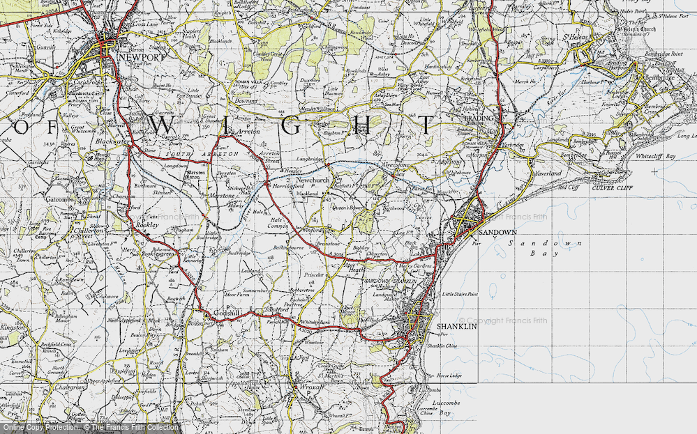 Old Map of Winford, 1945 in 1945
