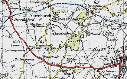 Old map of Winford in 1945