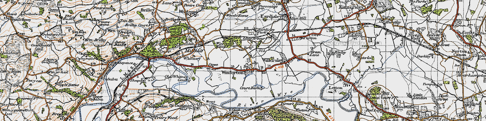 Old map of Winforton in 1947