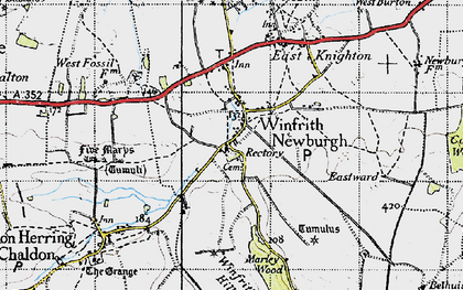 Old map of Marley Wood House in 1946