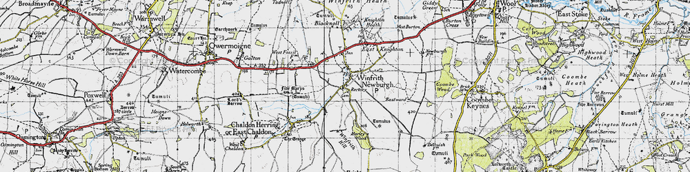 Old map of Winfrith Newburgh in 1946
