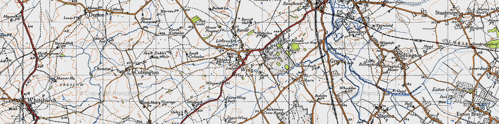 Old map of Wing in 1946