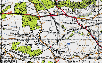 Old map of Wingate in 1947
