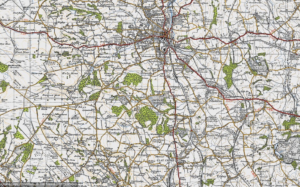 Old Map of Wingerworth, 1947 in 1947