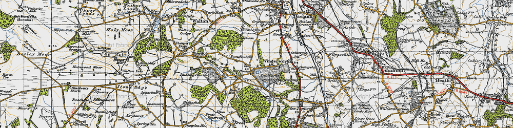 Old map of Wingerworth in 1947