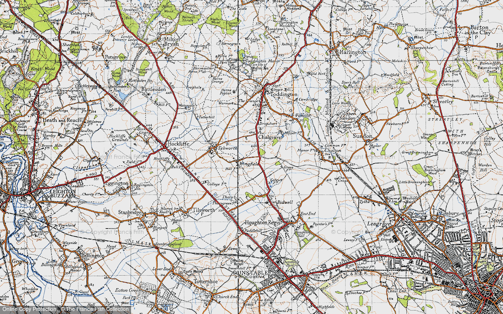 Old Map of Wingfield, 1946 in 1946