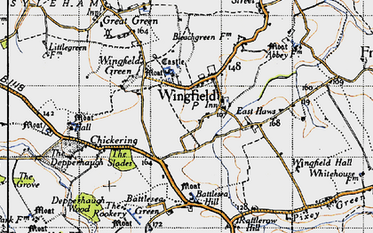 Old map of Wingfield in 1946