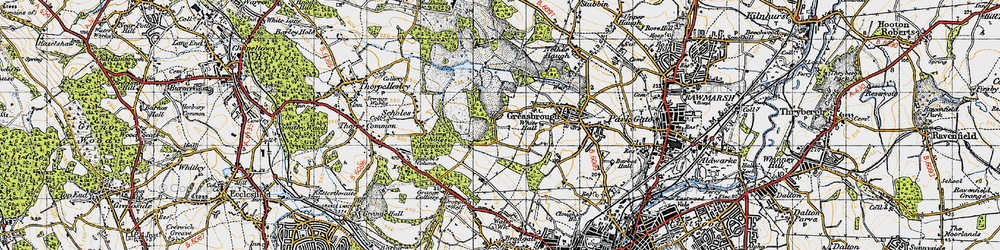 Old map of Wingfield in 1947