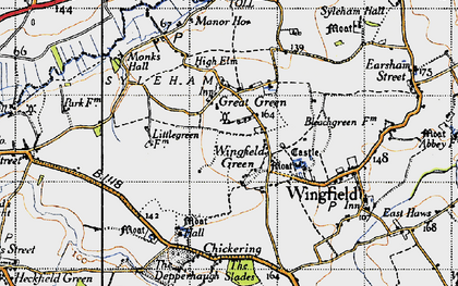 Old map of Wingfield Green in 1946