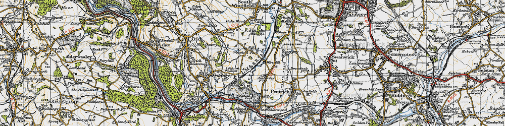 Old map of Wingfield Park in 1946