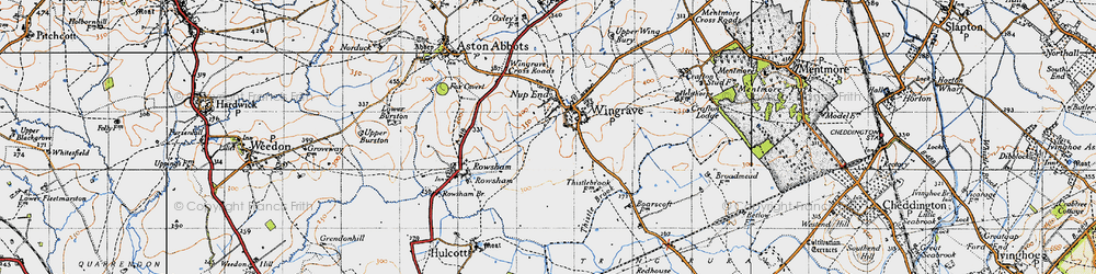 Old map of Wingrave in 1946