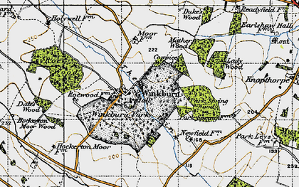 Old map of Wink, The in 1947