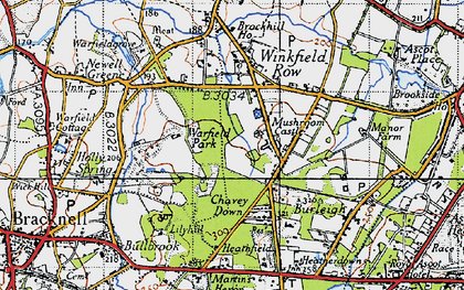 Old map of Whitegrove in 1940