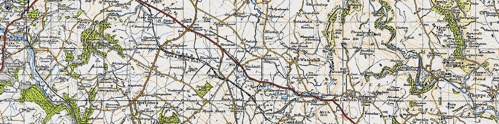 Old map of Winkhill in 1946