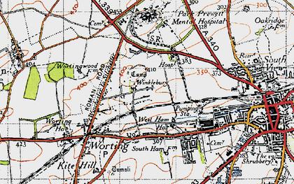 Old map of Winklebury in 1945