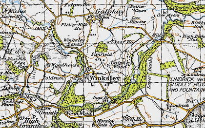 Old map of Winksley in 1947