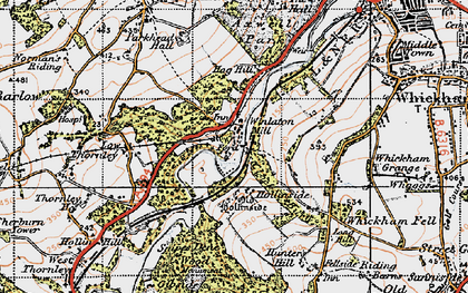 Old map of Winlaton Mill in 1947