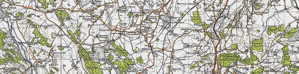 Old map of Winnal in 1947