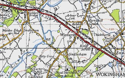 Old map of Winnersh in 1940