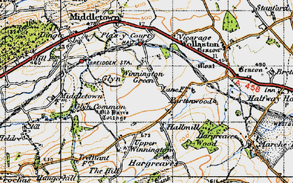 Old map of Winnington Green in 1947