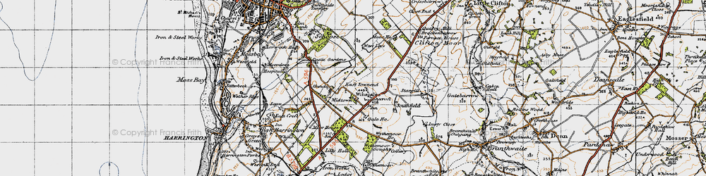 Old map of Winscales in 1947