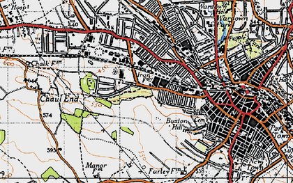 Old map of Winsdon Hill in 1946