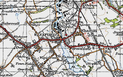 Old map of Winsford in 1947