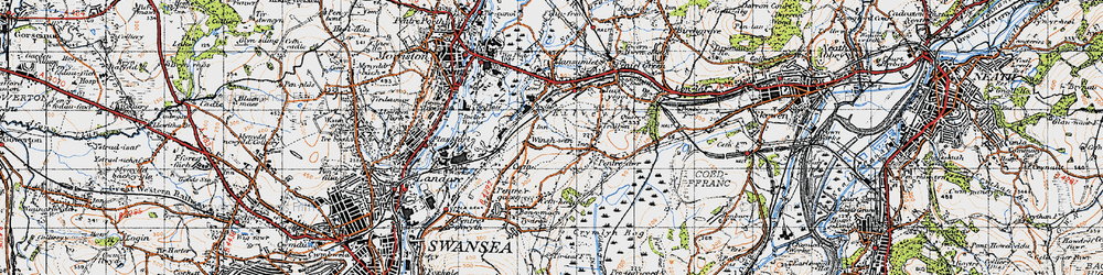 Old map of Winsh-wen in 1947
