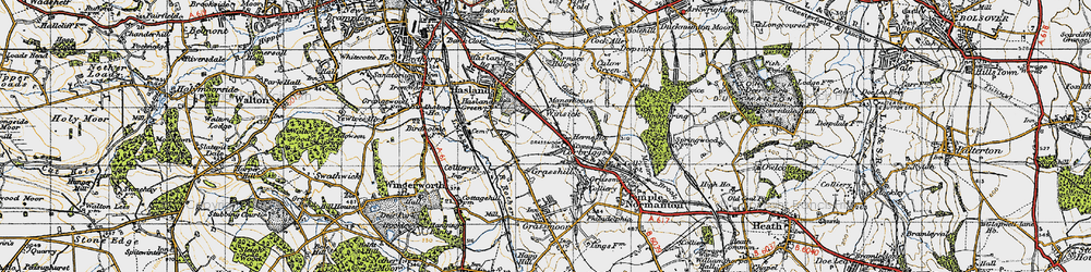 Old map of Winsick in 1947