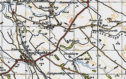 Old map of Winskill in 1947