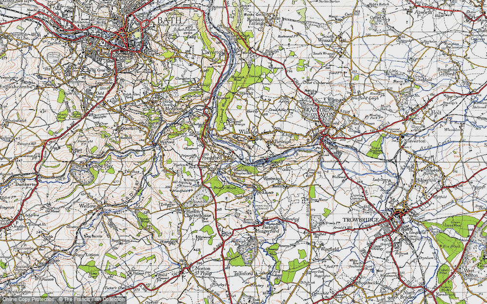 Old Map of Winsley, 1946 in 1946