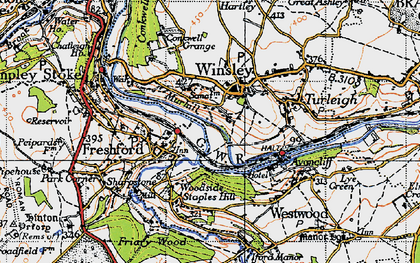 Old map of Winsley in 1946