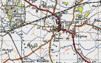 Old map of Winslow in 1946
