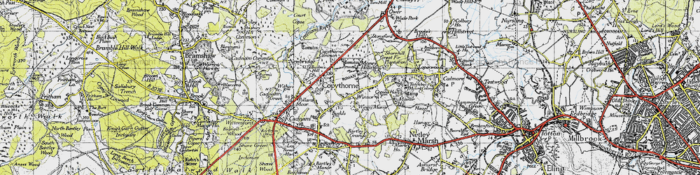 Old map of Winsor in 1945