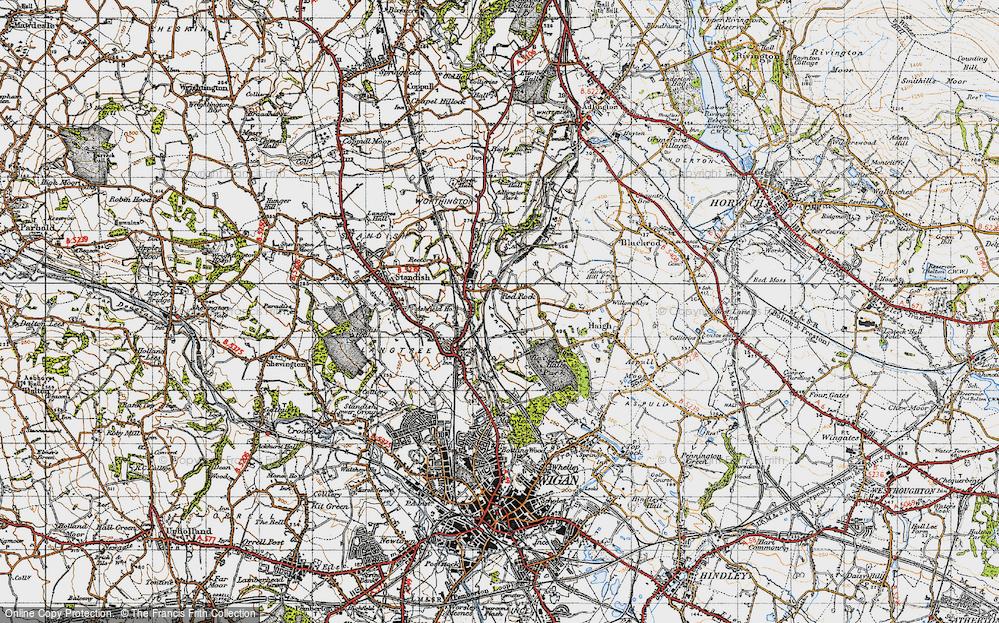Old Map of Winstanleys, 1947 in 1947