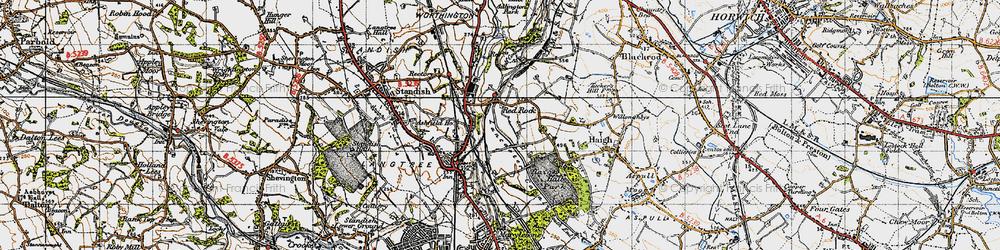 Old map of Winstanleys in 1947