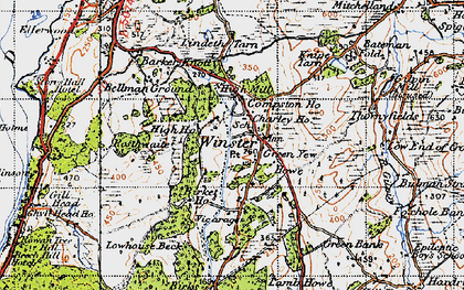 Old map of Winster in 1947