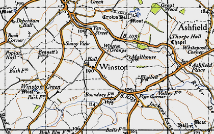 Old map of Winston Grange in 1946