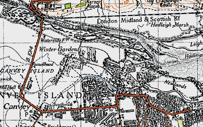 Old map of Winter Gardens in 1946