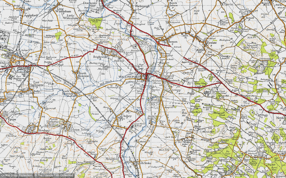Old Map of Winterbrook, 1947 in 1947