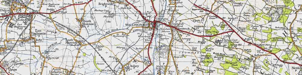 Old map of Winterbrook in 1947