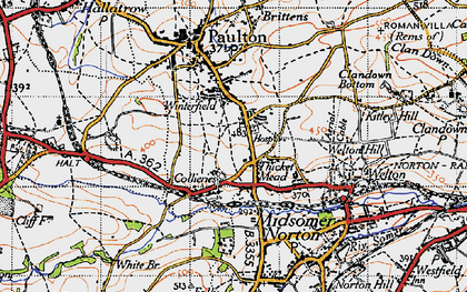 Old map of Winterfield in 1946