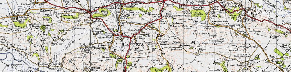 Old map of Winterhead in 1946