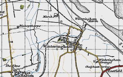 Old map of Winteringham Haven in 1947
