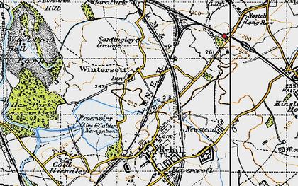 Old map of Wintersett in 1947