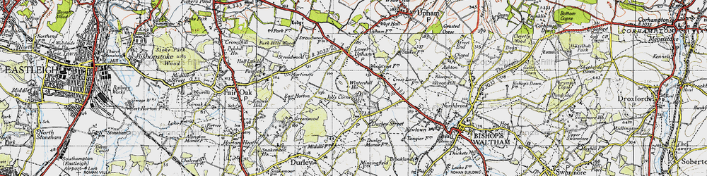 Old map of Wintershill in 1945