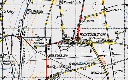 Old map of Winterton in 1947