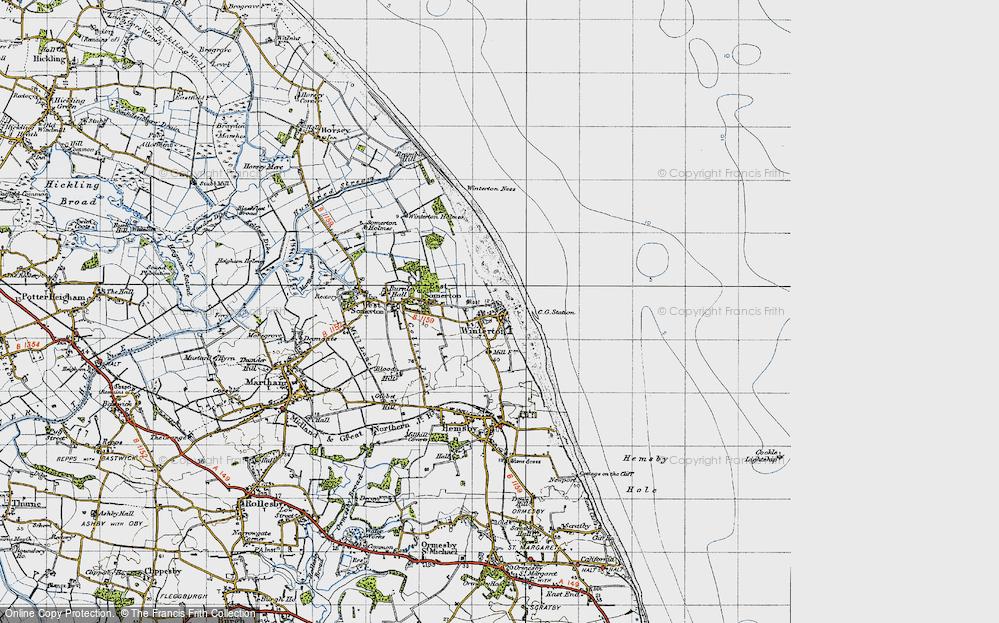 Winterton-on-Sea, 1945