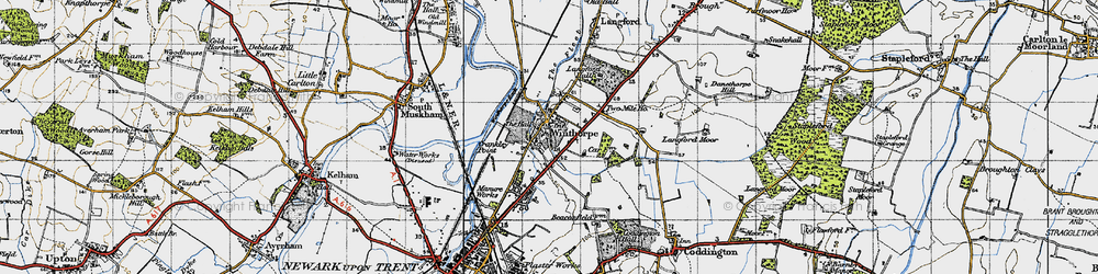 Old map of Winthorpe in 1947