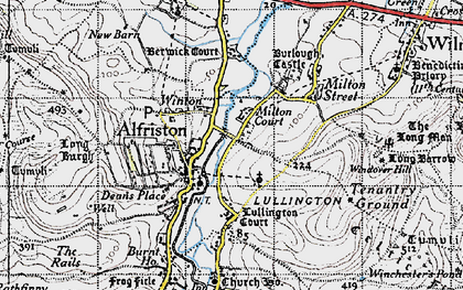 Old map of Winton in 1940